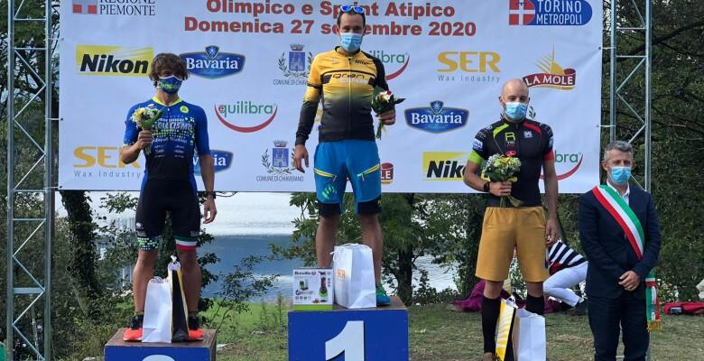 Filippo Barazzuol porta sul gradino più alto del podio il team Granbike al VI Triatlhon di Baldassarre