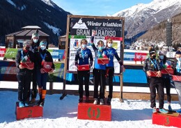 Buona la prima 2021: titolo nazionale a squadre e tanti podi al Winter Triathlon